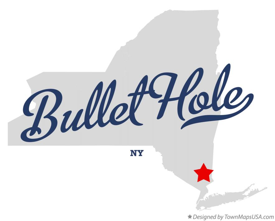 Map of Bullet Hole New York NY