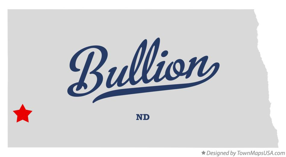 Map of Bullion North Dakota ND