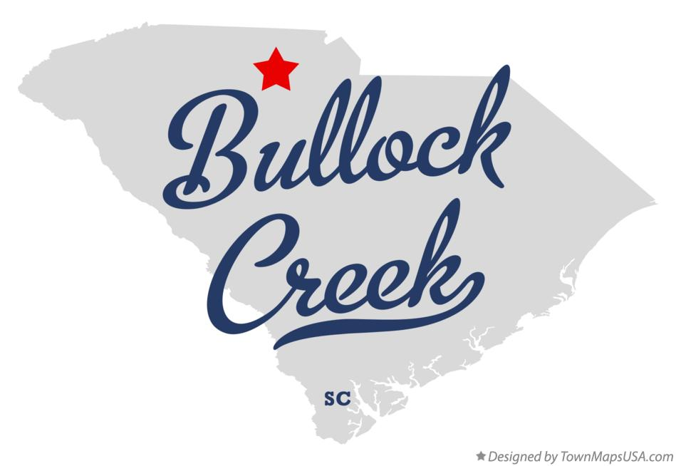 Map of Bullock Creek South Carolina SC