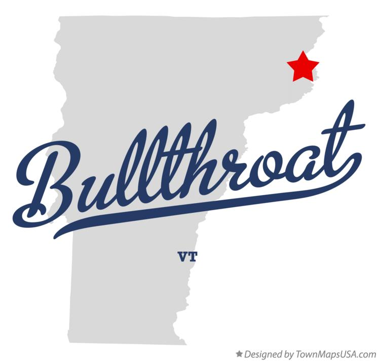 Map of Bullthroat Vermont VT