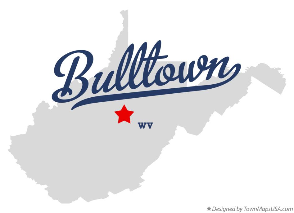 Map of Bulltown West Virginia WV