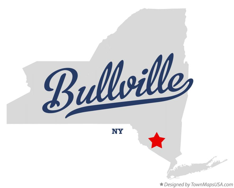 Map of Bullville New York NY