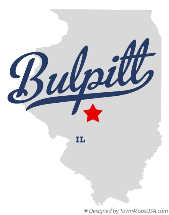 Map of Bulpitt Illinois IL