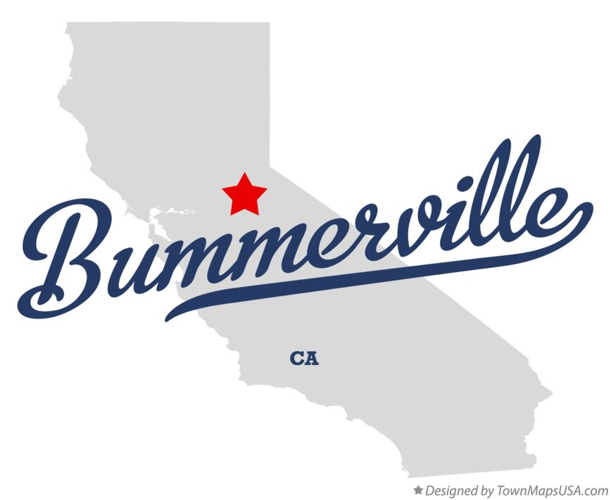 Map of Bummerville California CA