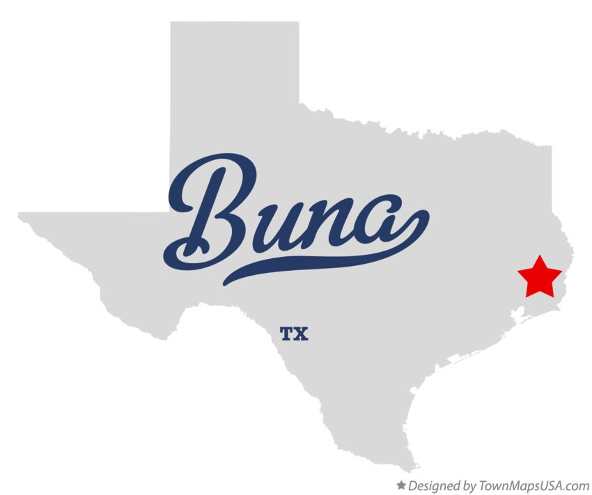 Map of Buna Texas TX