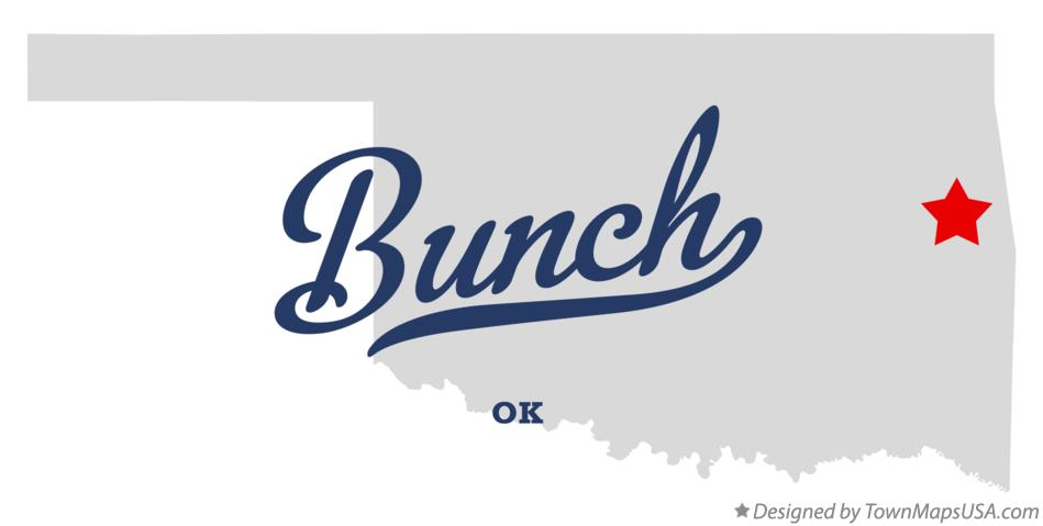 Map of Bunch Oklahoma OK