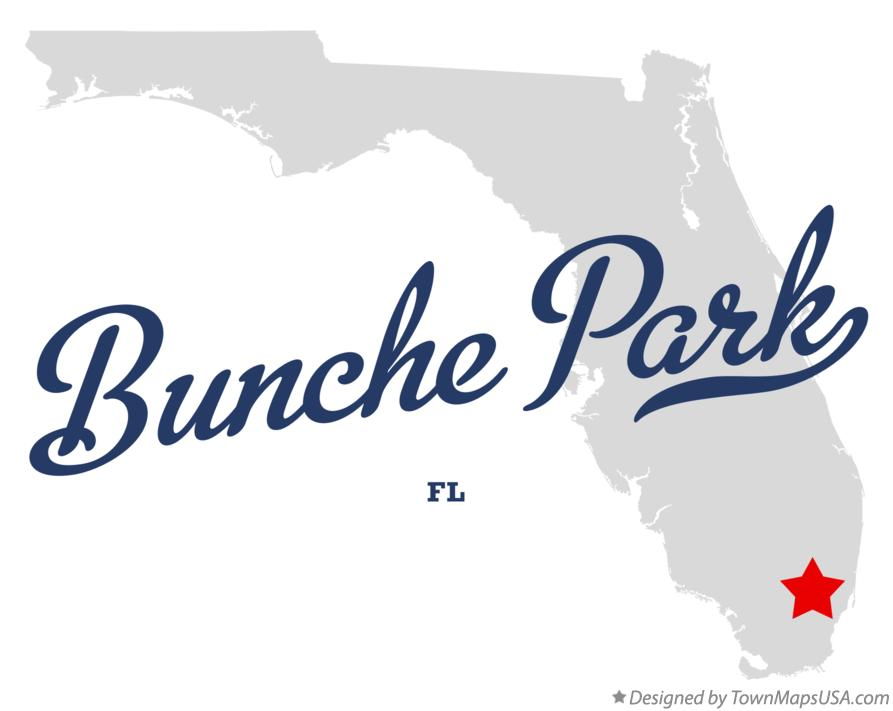 Map of Bunche Park Florida FL