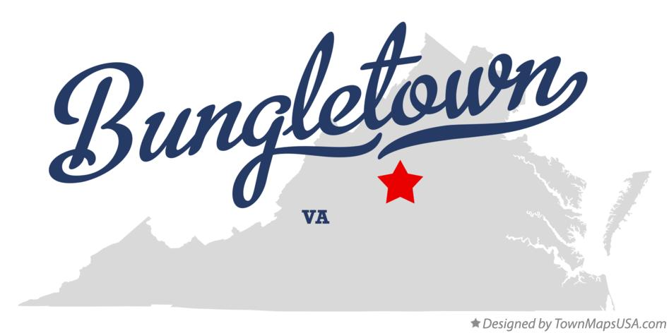 Map of Bungletown Virginia VA