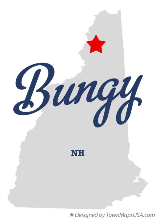 Map of Bungy New Hampshire NH