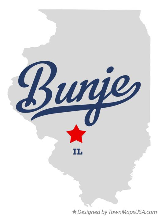Map of Bunje Illinois IL