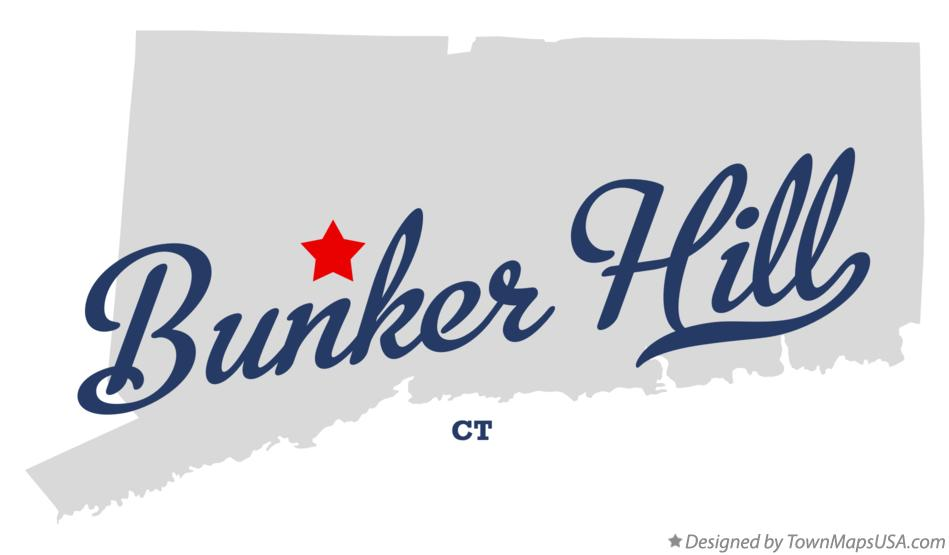 Map of Bunker Hill Connecticut CT