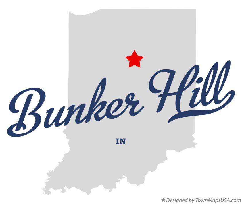 Map of Bunker Hill Indiana IN