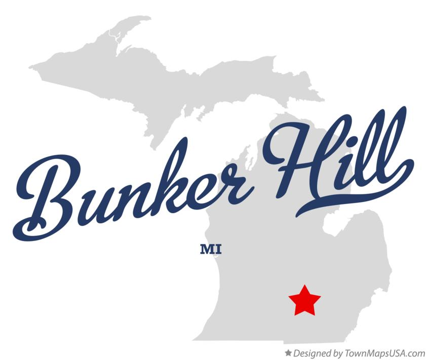 Map of Bunker Hill Michigan MI