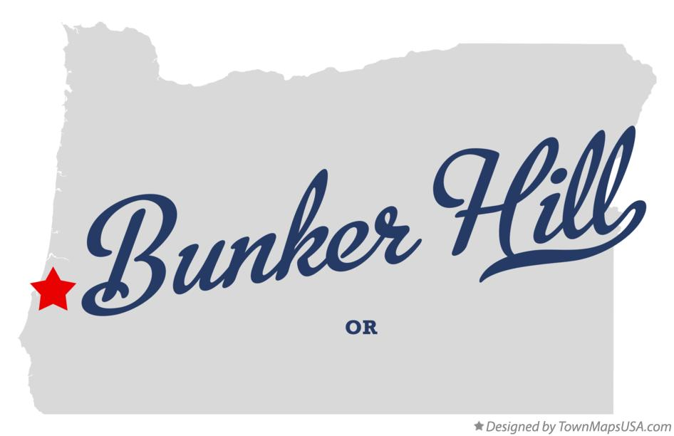 Map of Bunker Hill Oregon OR