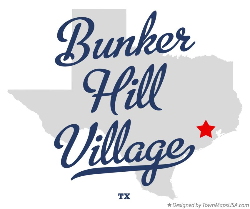 Map of Bunker Hill Village Texas TX