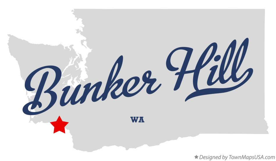 Map of Bunker Hill Washington WA
