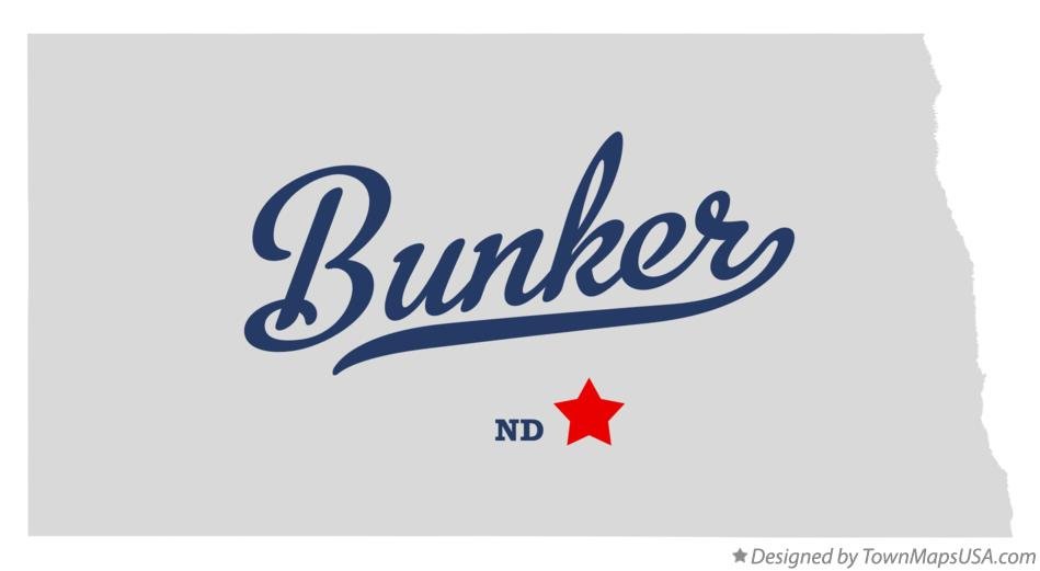 Map of Bunker North Dakota ND