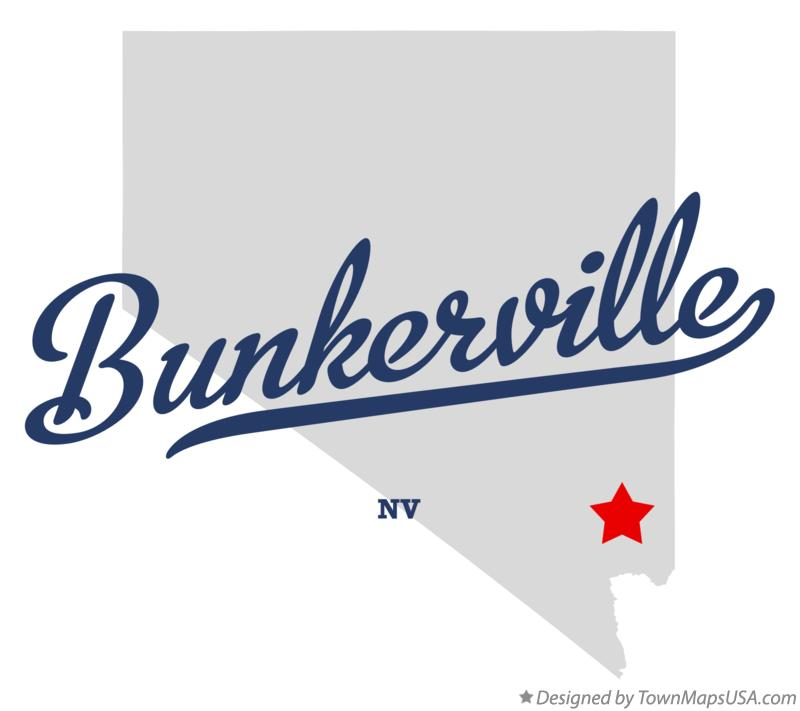 Map of Bunkerville Nevada NV