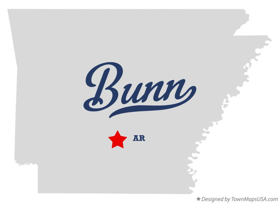 Map of Bunn Arkansas AR