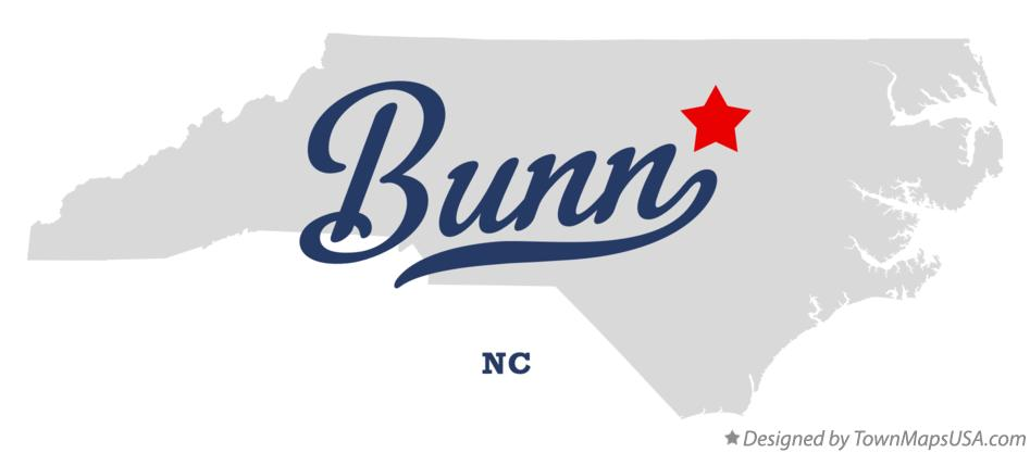 Map of Bunn North Carolina NC