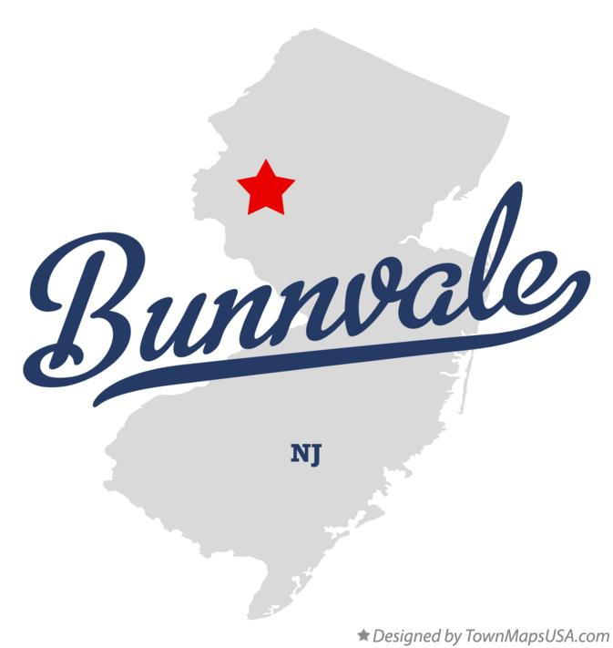 Map of Bunnvale New Jersey NJ