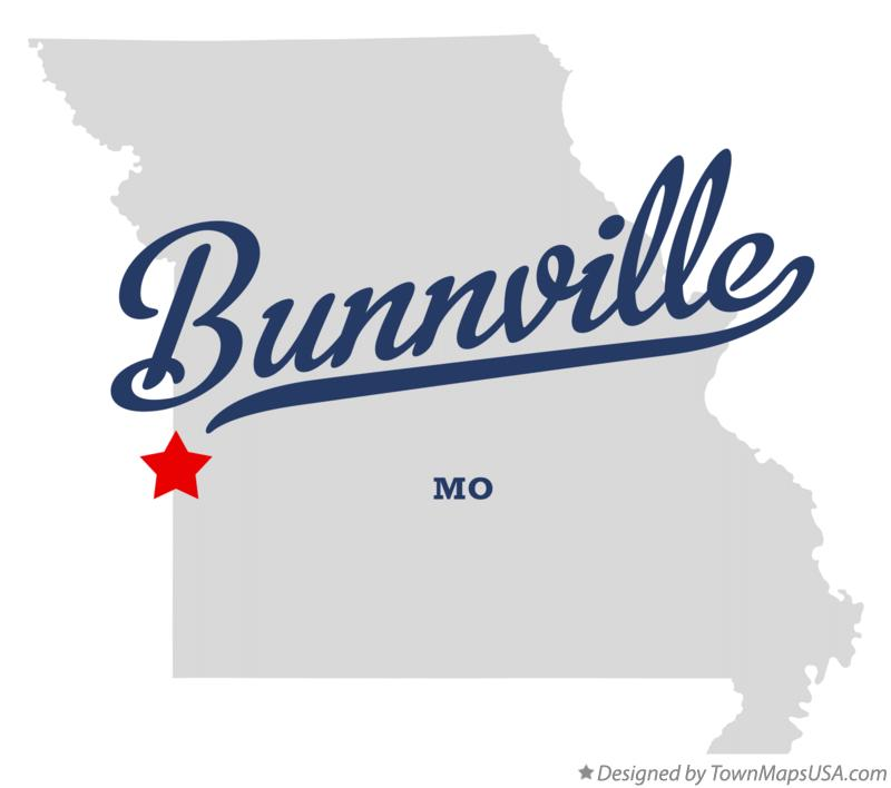Map of Bunnville Missouri MO