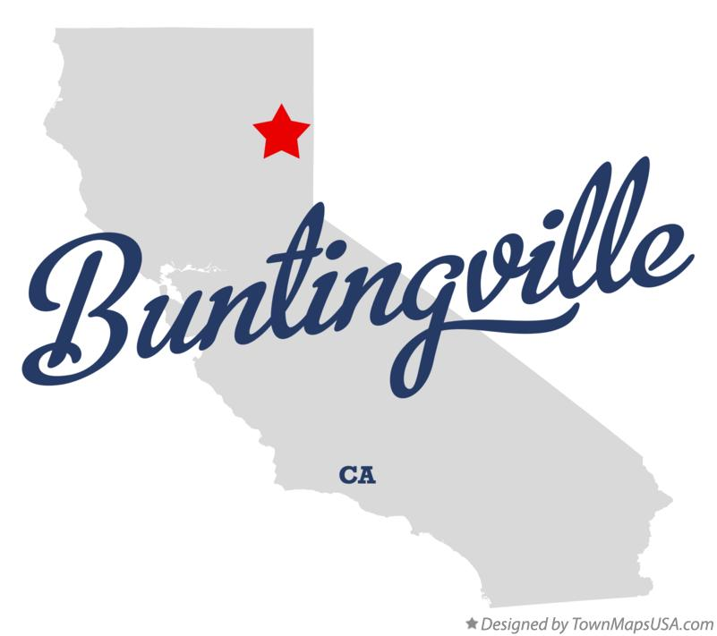 Map of Buntingville California CA