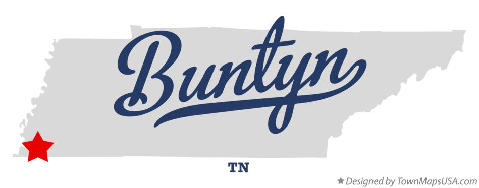 Map of Buntyn Tennessee TN