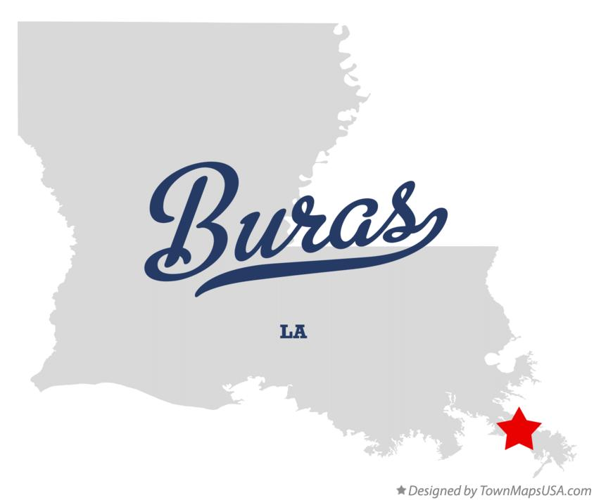 Map of Buras Louisiana LA