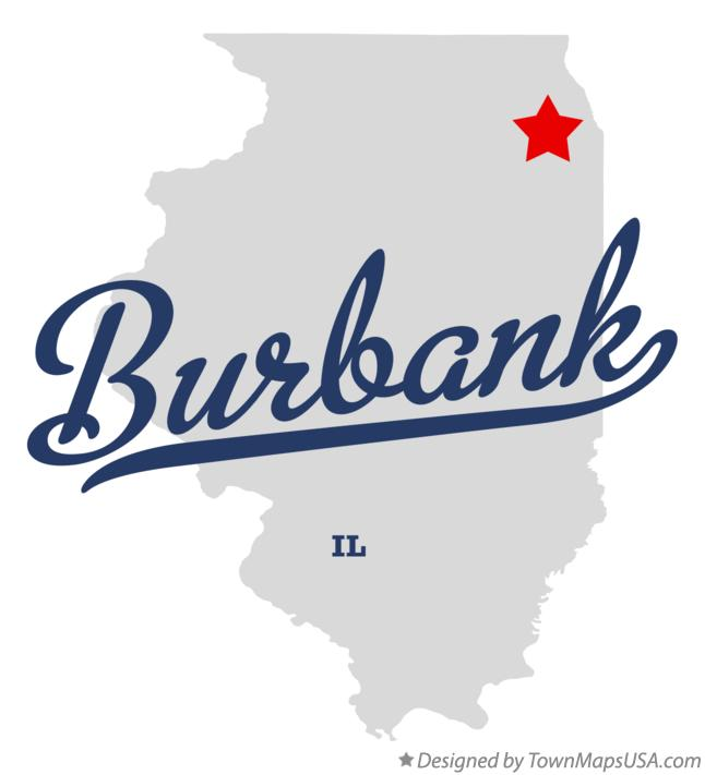 Map of Burbank Illinois IL