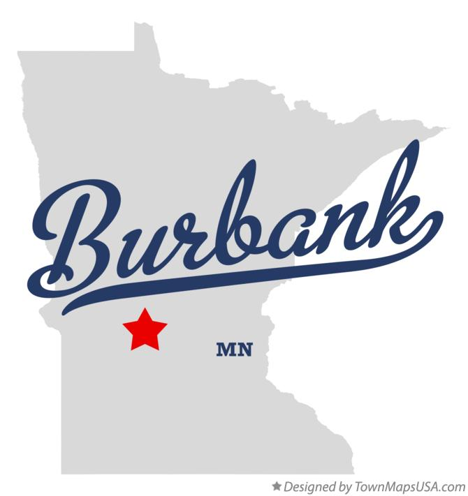 Map of Burbank Minnesota MN