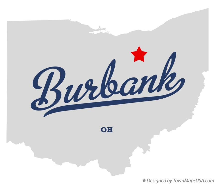 Map of Burbank Ohio OH