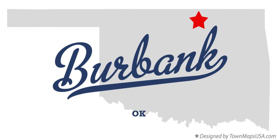 Map of Burbank Oklahoma OK