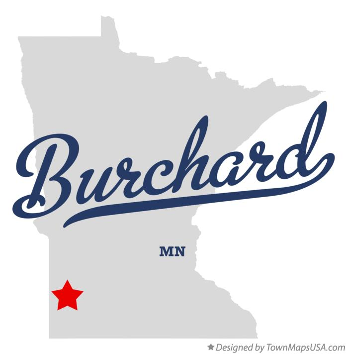 Map of Burchard Minnesota MN