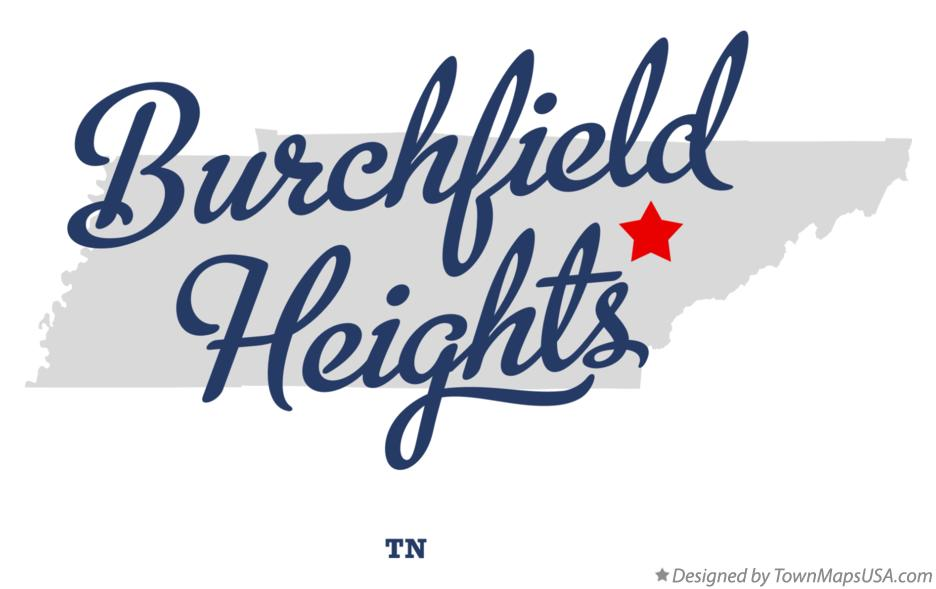 Map of Burchfield Heights Tennessee TN