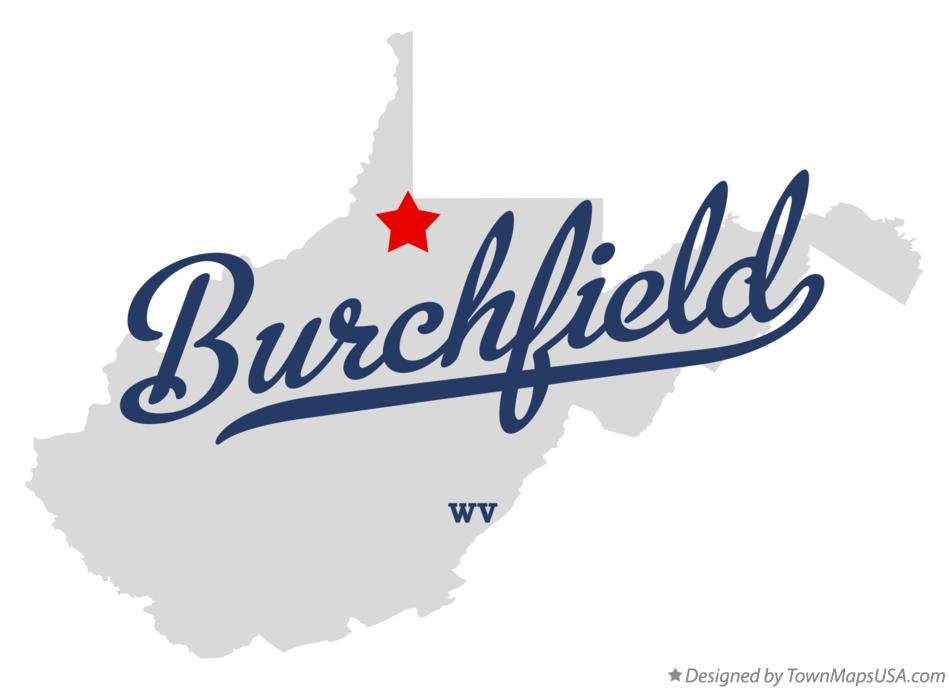 Map of Burchfield West Virginia WV