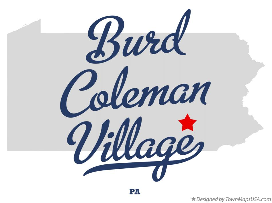 Map of Burd Coleman Village Pennsylvania PA
