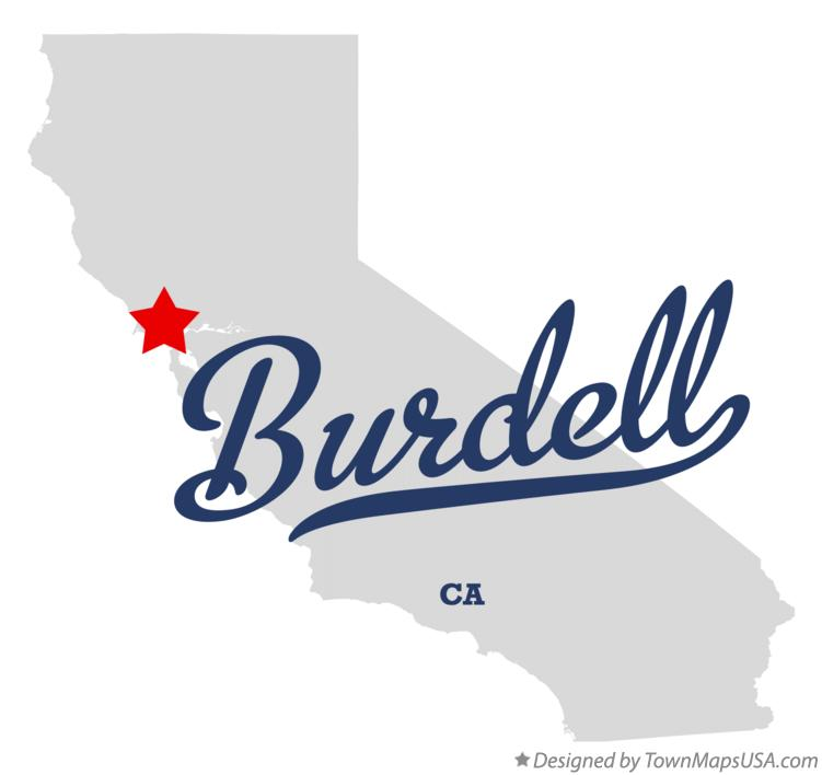Map of Burdell California CA