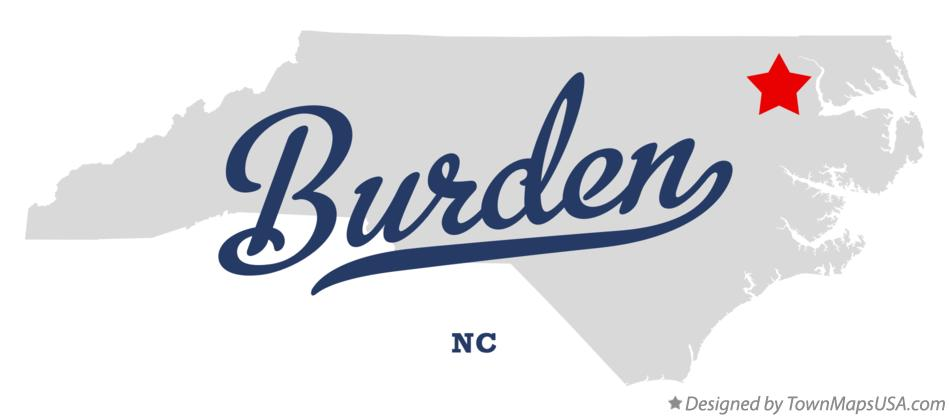 Map of Burden North Carolina NC