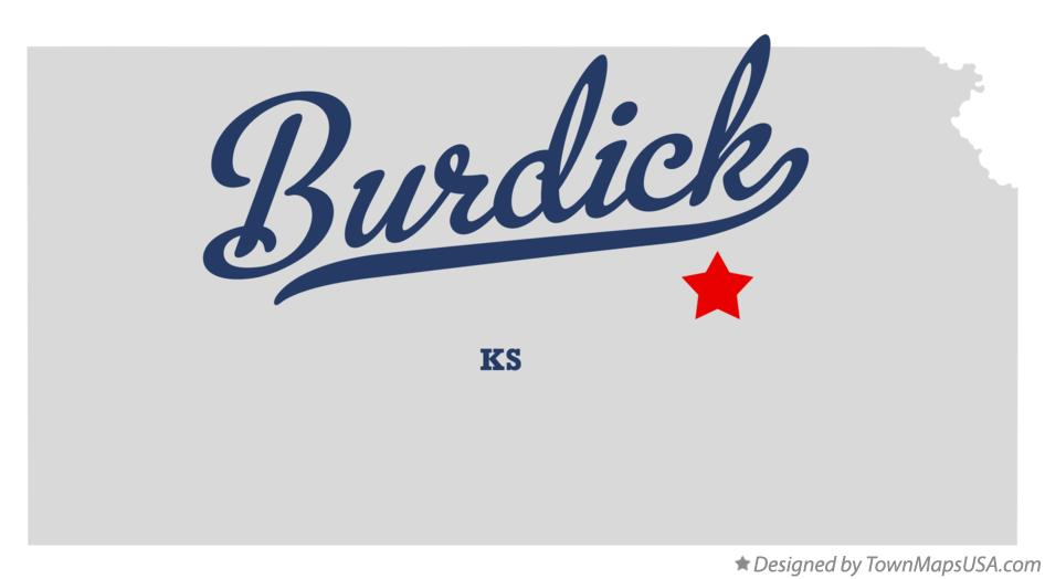 Map of Burdick Kansas KS