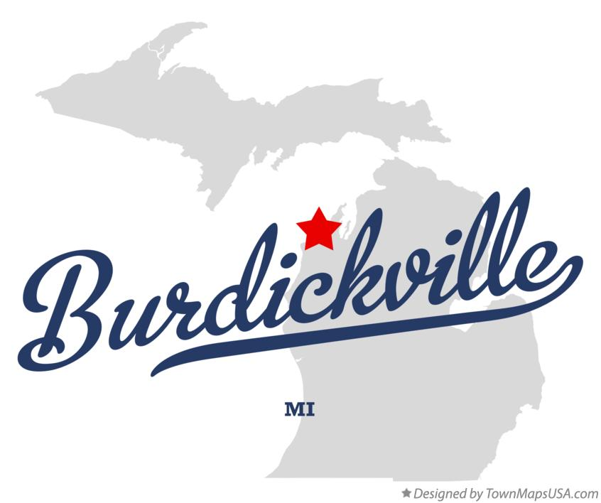 Map of Burdickville Michigan MI