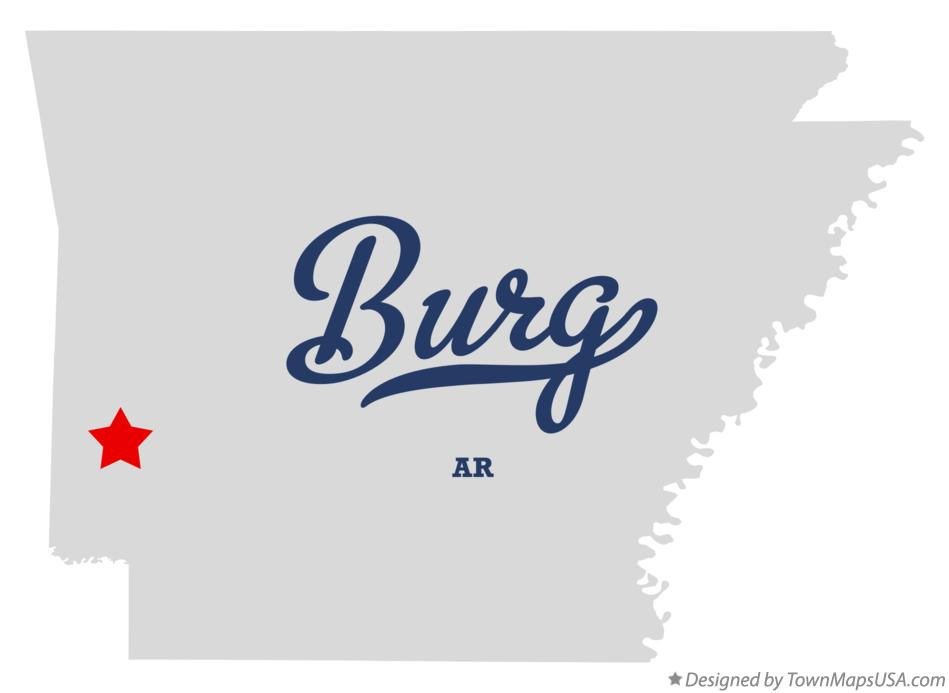 Map of Burg Arkansas AR