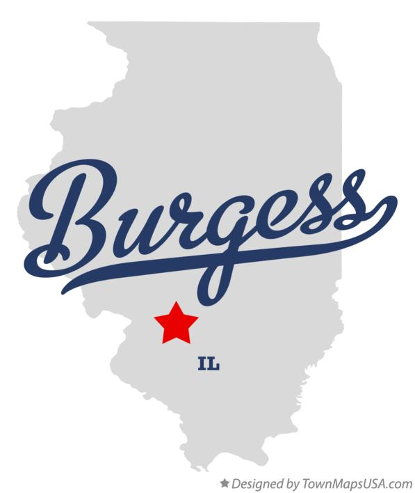 Map of Burgess Illinois IL