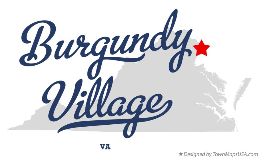 Map of Burgundy Village Virginia VA