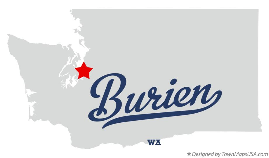 Map of Burien Washington WA