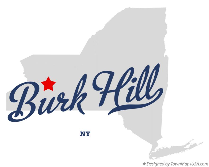 Map of Burk Hill New York NY