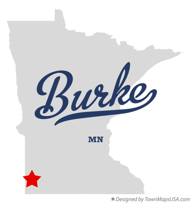 Map of Burke Minnesota MN