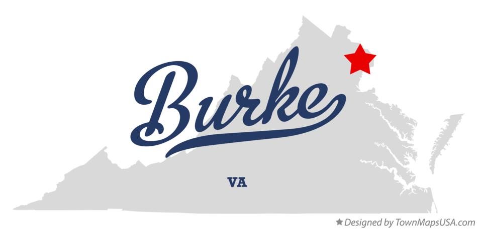 Map of Burke, VA, Virginia