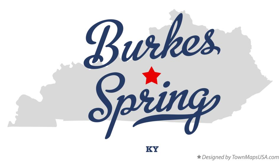 Map of Burkes Spring Kentucky KY