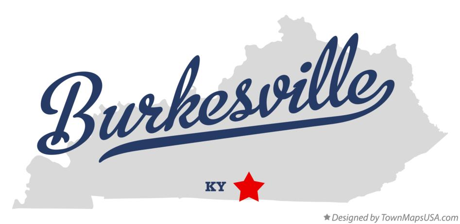 Map of Burkesville Kentucky KY